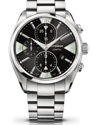 Eterna  KonTiki Chronograph black steel