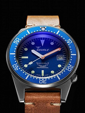 Squale 50 Atmos blue Blasted