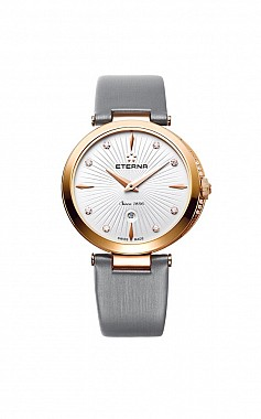 Eterna Grace Two-Hands white grey satin gold