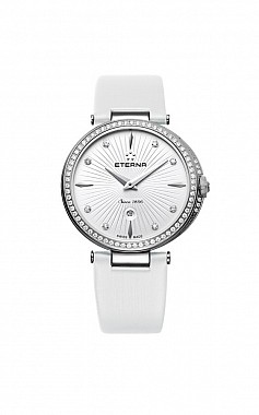 Eterna Grace Two-Hands white satin diamonds