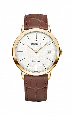 Eterna Eternity For Him Quartz 40 silver leather gold