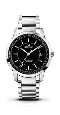 Eterna Tangaroa Three-Hands black steel