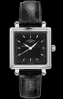 Mühle-Glashütte Teutonia II Quadrant Medium Schwarz