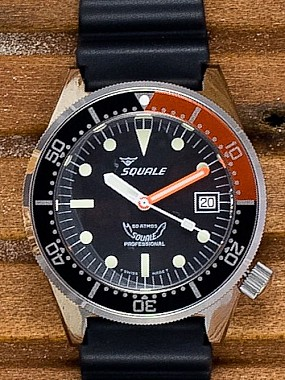 Squale 50 Atmos black Domed