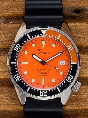 Squale 50 Atmos orange domed