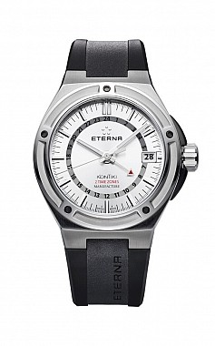 Eterna Royal Kontiki GMT silver rubber