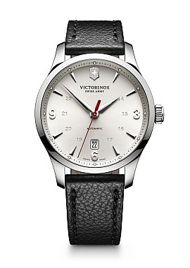 Victorinox Alliance Mechanical matt silver leather