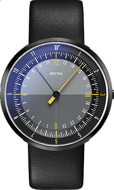 Botta-Design DUO Black-Yellow Black Edition Quartz