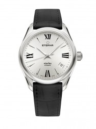 Eterna Lady Kontiki Automatic silver leather