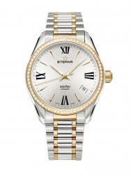 Eterna Lady Kontiki Automatic silver steel bicolor diamonds