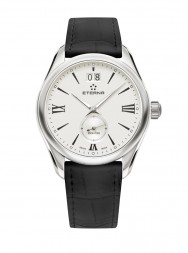 Eterna Lady Kontiki Quartz silver leather