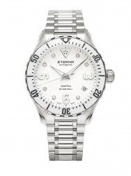 Eterna Lady Kontiki Diver white 7 diamonds steel