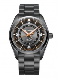 Eterna Kontiki Four-Hands black anthracite steel PVD