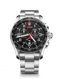 Victorinox Chrono Classic XLS black/red steel