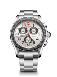 Victorinox Chrono Classic XLS silver/red steel