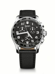Victorinox Chrono Classic black leather