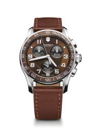 Victorinox Chrono Classic brown leather