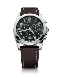 Victorinox Infantry Chronograph black leather