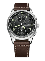 Victorinox AirBoss Mechanical Chronograph black leather