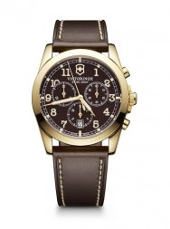 Victorinox Infantry Chronograph brown leather