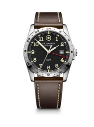 Victorinox Infantry GMT black leather