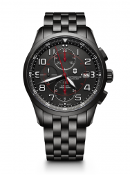 Victorinox AirBoss Mechanical Chronograph Black Edition steel