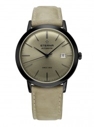 Eterna Eternity For Him Automatic truffle grey leather PVD