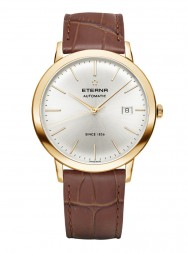 Eterna Eternity For Him Automatic silver leather gold