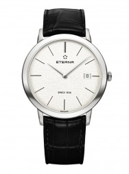 Eterna Eternity For Him Quartz 40 silver leather