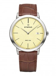 Eterna Eternity For Him Quartz 40 champagne leather