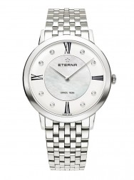 Eterna Eternity For Her Quartz 40 silver and white MOP endowed with 8 diamonds steel