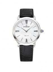 Eterna Eternity For Her Quartz 32 white MOP black leather