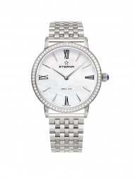 Eterna Eternity For Her Quartz 32 white MOP diamonds steel