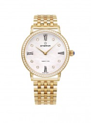 Eterna Eternity For Her Quartz 32 white MOP endowed with 8 diamonds rose gold diamonds steel