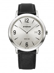 Eterna Eternity For Him Quartz 42 silver leather