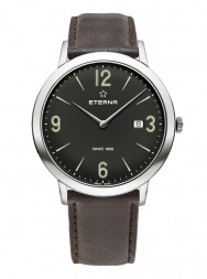 Eterna Eternity For Him Quartz 42 black leather