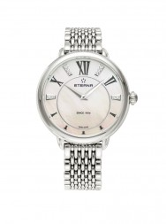 Eterna Lady Eterna Quartz pink MOP endowed with 10 diamonds steel
