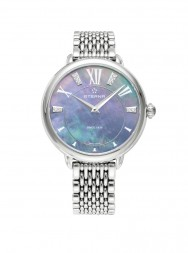 Eterna Lady Eterna Quartz blue MOP endowed with 10 diamonds steel