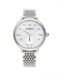 Eterna Lady Eterna Small Second 34 white MOP endowed with 6 diamonds steel