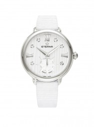 Eterna Lady Eterna Small Second 34 white endowed with 6 diamonds textile white