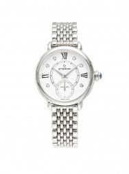 Eterna Lady Eterna Small Second 28 white endowed with 6 diamonds steel
