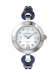 Eterna Golden Heart blue MOP endowed with 8 diamonds blue mesh - Limited Edition
