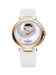 Eterna Grace Open Art white satin gold 73 diamonds