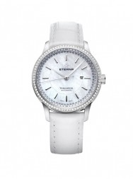 Eterna Tangaroa Lady white leather white diamond