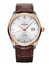 Eterna Legacy Date Silver leather gold