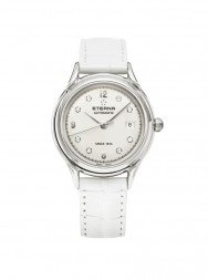 Eterna Heritage 1948 For Her Automatic silver endowed with 9 diamonds leather