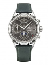 Eterna Heritage 1948 For Him Chronograph anthracite leather