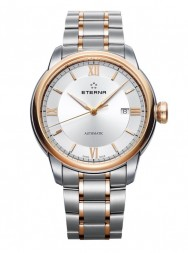 Eterna Adventic Date silver steel gold