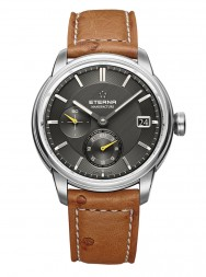 Eterna Adventic GMT anthrazite leather