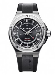 Eterna Royal Kontiki GMT black rubber